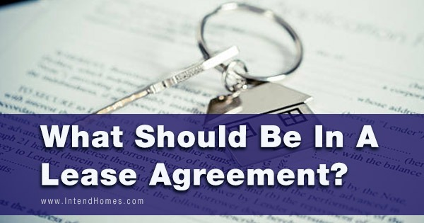 What Should Be In A Lease Agreement?