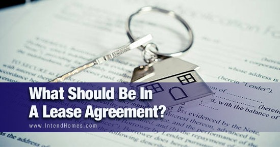 What Should Be In A Lease Agreement