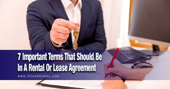 7 Important Terms That Should Be In A Rental Or Lease Agreement