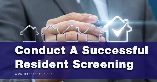 Conduct A Successful Resident Screening