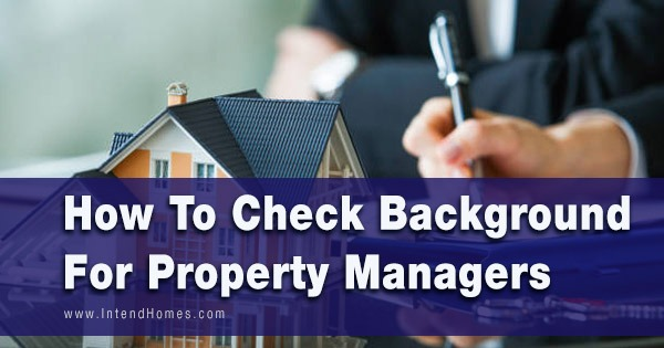 How To Check Background For Property Managers