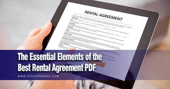 The Essential Elements of the Best Rental Agreement PDF
