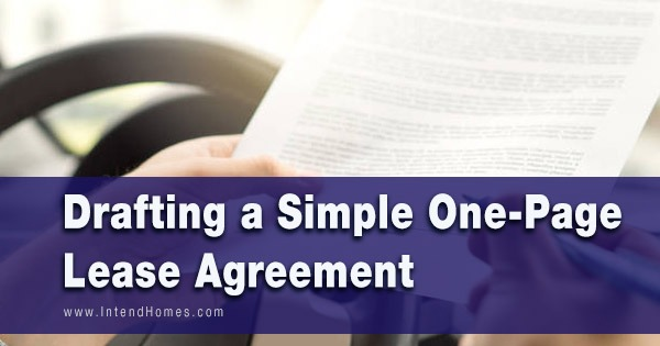 Drafting a Simple One-Page Lease Agreement