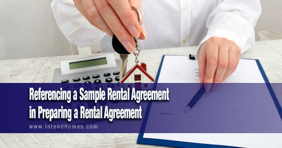 Referencing A Sample Rental Agreement In Preparing A Rental Agreement