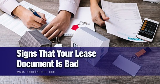 Signs That Your Lease Document Is Bad