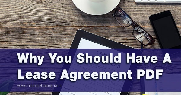 Why You Should Have A Lease Agreement PDF